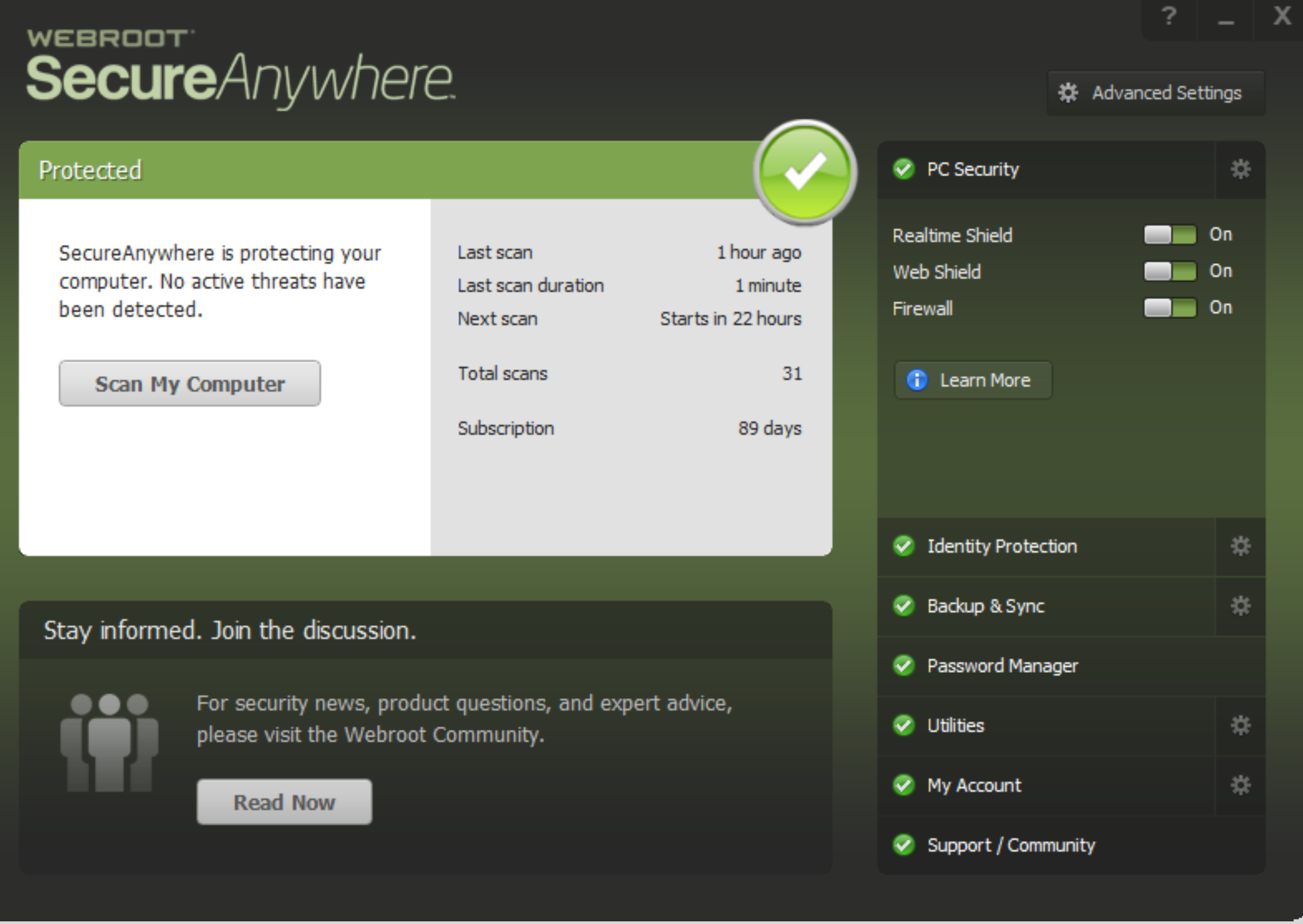 webroot managed endpoint protection
