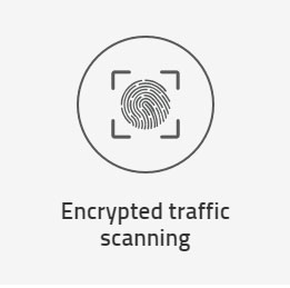Encrypted traffic scanning