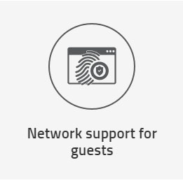 Network support for guests