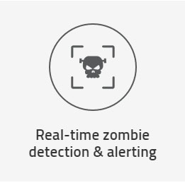 Real-time zombie detection & alerting
